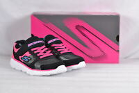 Youth Girl's Skechers Go Run 400-Sparkle Sprinters Sneakers  Black/Pink