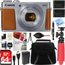 Canon PowerShot G9 X Mark II Silver Digital Camera Spare Battery & Accessory Kit