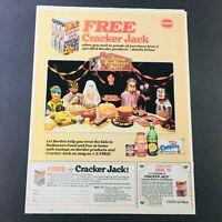 VTG Retro 1984 Halloween Candy Cracker Jack Caramel Popcorn & Peanuts Ad Coupon