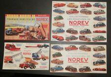 les miniatures automobiles de Norev 4 buvards 1960's autos & travaux publics