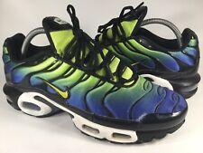 Nike Air Max Plus Tn Hyper Blue Green Cyber Black Mens Size 9.5 Rare 604133-430