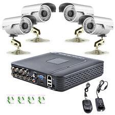 H.264 8CH DVR 1300TVL CCTV Home Security 4 IR Outdoor Night Camera Alarm System