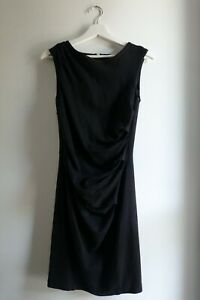 Country Road Fitted Front Gathered Work Dress - Black - Size S