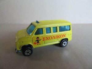 936L Polfi Toys Made IN Greece 401 Ford E150 Minibus Excursion Yellow 1:55