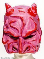 Devil Mask Vintage Cesar 1/2 Face Pink & Red Theater Style Pink & Red Devil