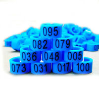 New 100 Pcs 8mm 1-100 Numbered Poultry Leg Bands Bird Pigeon Duck Rings Clip YS