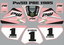 pw50 decals graphics yamaha pw 50 personal peewee laminated stickers old pink