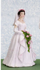 Dolls house figure 1/12th scale poly/resin Bride, Connie