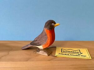 American Robin bird hand made, WALDORF wooden TOY figure. Made with love!