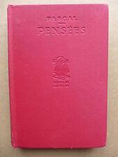 Blaise Pascal - Pensées  /  1932 éditions Lutétia