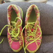 Asics Gel Noosa Tri 9 Womens Neon Rainbow Running Triathlon Shoes Sz 5.5