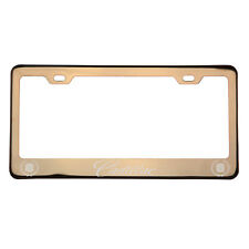 Laser Engraved Cadillac Rose Gold Chrome License Plate Frame 304 Stainless Steel