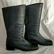 Naturalizer Below Knee High Boots Size 6 M NAVY BLUE Leather Slip On Square Toe