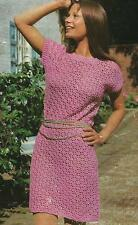 "Ladies Crochet Dress Pattern 34-38"" Double Knitting  118"