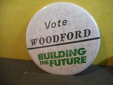 Campaign Button Pinback Canada Election Political Pin,Vote Woodford