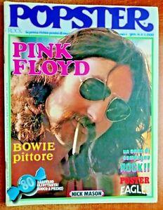 PINK FLOYD -POPSTER R@R@ RIVISTA ROCK  ANNI 70 + POSTER EAGLES- RIF.8743