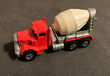 1979 Matchbox Peterbilt Cement Mixer Red Truck Die Cast Metal Toy Car