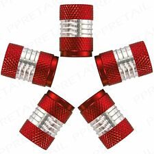 10x HIGH QUALITY METAL ALUMINUM RED/SILVER VALVE DUST CAPS Car Van BMX Tyre Tire