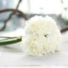 Rosa 5 Köpfe Künstliche Pfingstrose Seiden Blumen Blumenstrauß Hochzeit Dekor DE