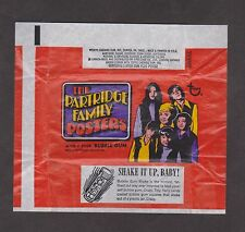1971 TOPPS THE PARTRIDGE FAMILY FAMILY POSTERS WRAPPER