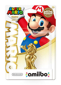 NEW Gold Mario Amiibo Walmart Exclusive Figure Nintendo USA Super Party Version