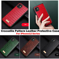 Ultra-thin Crocodile Pattern Leather Phone Protective Case For iPhone 12 Series