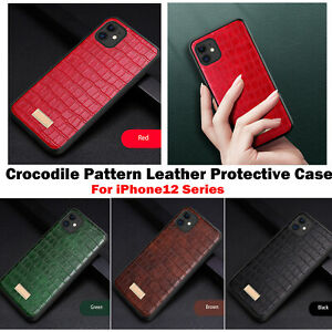 For iPhone 12Pro Max Mini Luxury Crocodile Pattern Leather Phone Protective Case