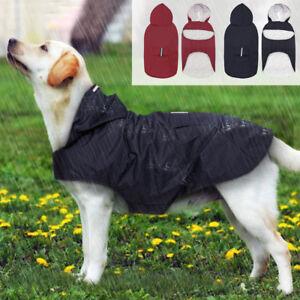 Reflective Pet Dog Rain Raincoat Waterproof Poncho Lightweigh Hooded Coat Jacket