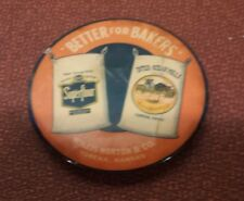 Vintage Celluloid Advertising Pocket Mirror ~ Willis Norton & Co. ~ Topeka KS