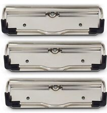 Value Pack of 3 Heavy Duty Low Profile Clipboard clips with Rubber Feet