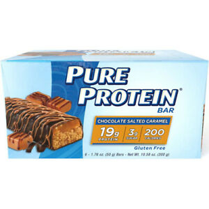 Gluten Free Pure Protein Bars, Chocolate Salted Caramel, 6 Count, Fast Shipping!