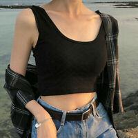 12Color Women Sexy Slim Short Top Sleeveless Tank Tops Crop Tops Vest Tube Top