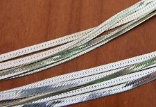 "NEW STERLING SILVER HERRINGBONE CHAIN 3MM 7"" BRACELET #SM-001"