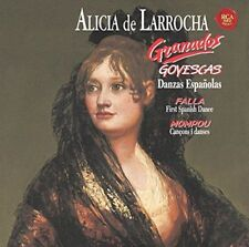 ALICIA DE LARROCHA-GRANADOS: GOYESCAS-JAPAN CD Ltd/Ed B63