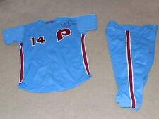 Pete Rose Mizuno Game Worn Signed Full Uniform Philadelphia Phillies Reds
