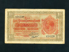 East Africa:P-8,1 Florin,1920 * Hippo * King George V * F-VF *