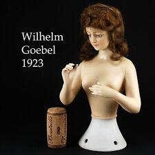 RARE ! EXCEPTIONNELLE Demi-figurine Half Doll Tee Puppe GOEBEL 1923 Art-Déco