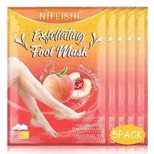 Foot Peel Mask - 5 Pack of Peach Foot Mask - Removes Calluses,Dead and Dry