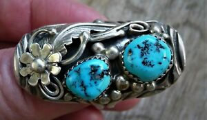 Navajo Ring Türkise Türkis Sterling Silber 925 plus Armband 13 Gramm 20 mm