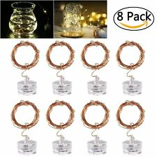 8 PCS 20 Micro Starry 6.5ft LED Copper Wire String Lights Battery Operated Warm