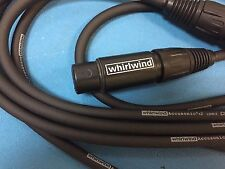 Whirlwind Accusonic+2  Male to  Female Microphone Cable 10'
