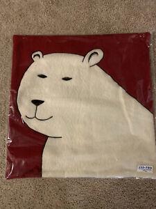 NWT Crate & Barrel Holiday Bear Pillow