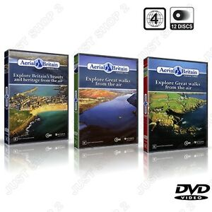 Aerial Britain Vol 1 + Vol 2 + Vol 3 : Explore Britain's Heritage Beauty & Walks