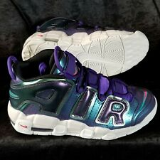New Size 6.5 Youth Nike Air More Uptempo Court GS Iridescent Purple  922845-500