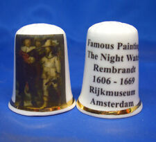 Birchcroft Thimble -- Famous Paintings - The Night Watch by Rembrandt - Free Box