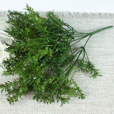 Artificial Plastic Green Leaves Plant Parsley Grass Home Wedding Decorative