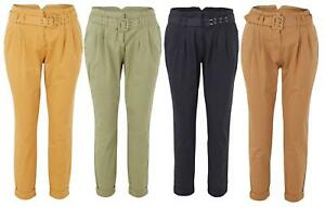 Ladies Cotton Stretch Cropped Summer Holiday Pants Capri Trousers