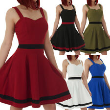 malucas Damen Kleid Petticoat 50er Jahre Kleid Rockabilly Retro Tanzkleid Party
