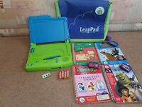 LEAP FROG LeapPad Reading & Learning System Bundle - 8 Books/Carts & Carry Case