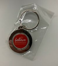 Limited Edition Round Believe Keyring - Believe Organ Donor Support